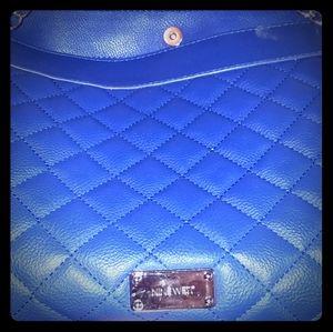 Nine West Blue quilt purse
